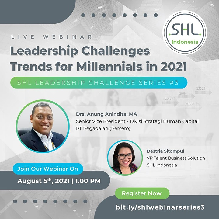 Webinar Leadership Challenges Trends for Millennials in 2021 image