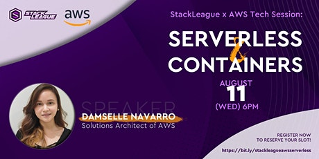 StackLeague x AWS Tech Session: Serverless & Containers biglietti