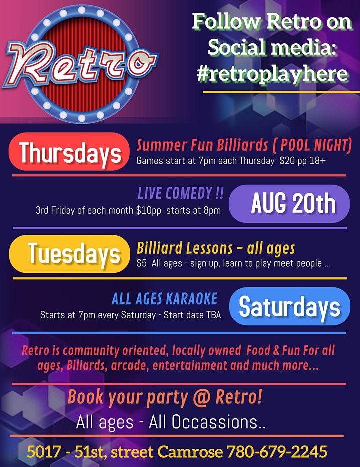ALL AGES KARAOKE  at RETRO in Camrose image
