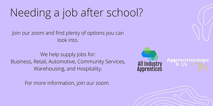 Apprenticeship and Traineeship Careers Info Session image