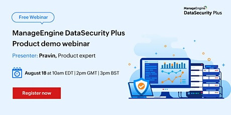 ManageEngine DataSecurity Plus product demo tickets