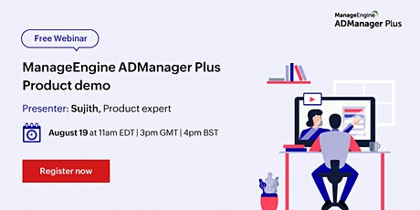ManageEngine ADManager Plus product demo tickets