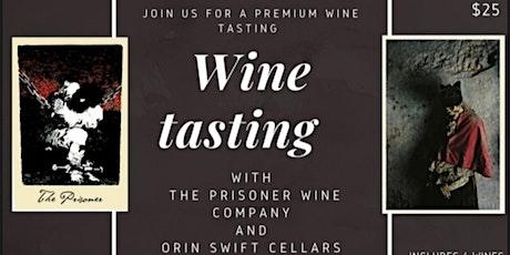 Orin Swift Cellars Wine Tasting at Boheme tickets