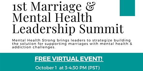 1st Marriage and Mental Health Leadership Summit tickets