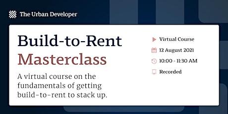 Build-to-Rent Masterclass biglietti