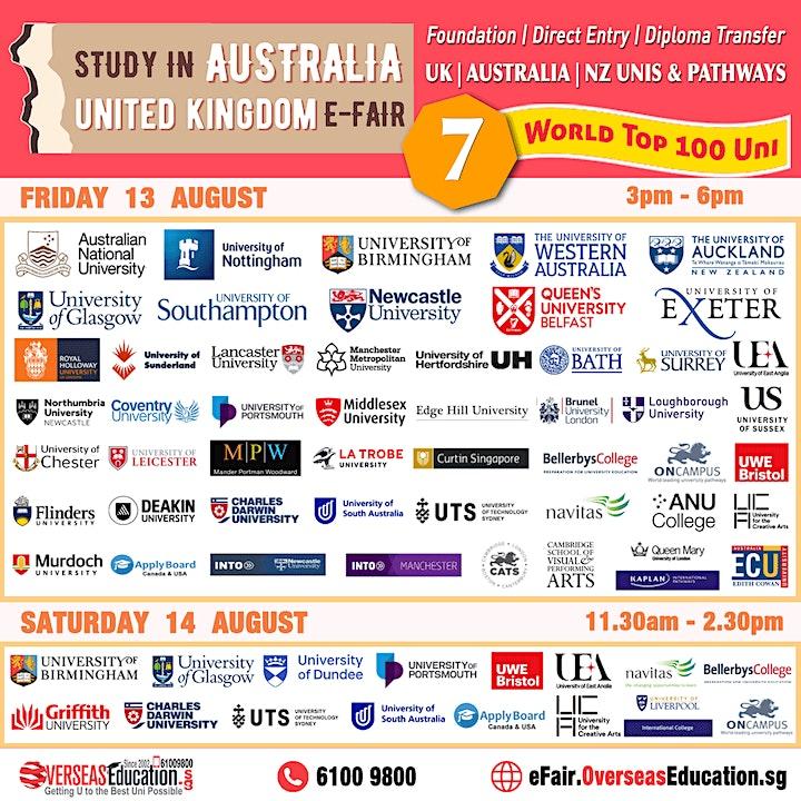 Study in Australia/UK EFair image