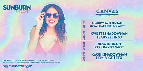 "CANVAS Dallas ""SUNBURN"" POOL PARTY tickets"