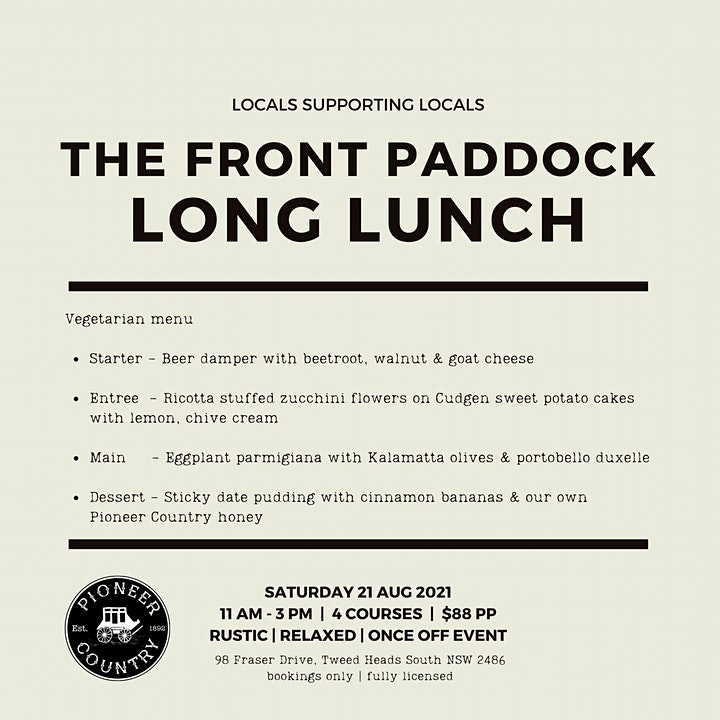 The Front Paddock Long Lunch image