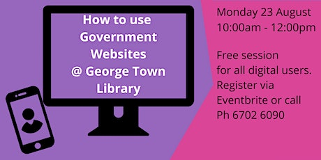 How to use Government websites tickets