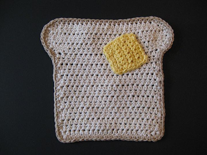 Learn to Crochet - Toast Washcloth image