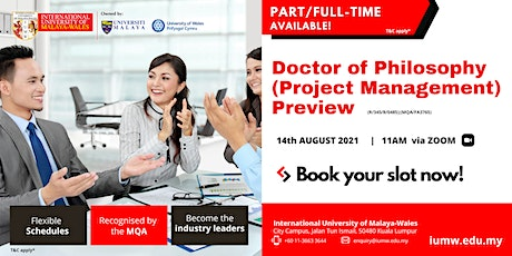 IUMW Doctor of Philosophy (Project Management) Preview tickets