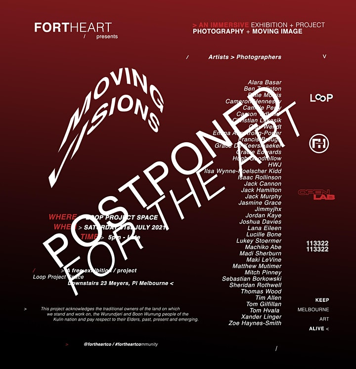 MOVING VISIONS POSTPONED NEW DATE COMING SOON << image