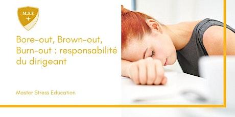 Bore-out, Brown-out, Burn-out : responsabilité du dirigeant billets