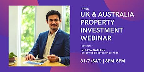 [FREE] UK & Australia Property Investment Webinar tickets