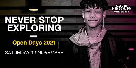 Oxford Brookes Undergraduate Open Day - 13 November 2021 tickets