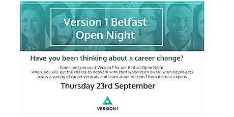 Version  1 Belfast Open Night tickets