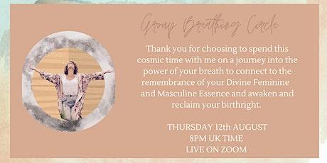 Monthly Breathing Circles- Awakening the Divine Feminine tickets