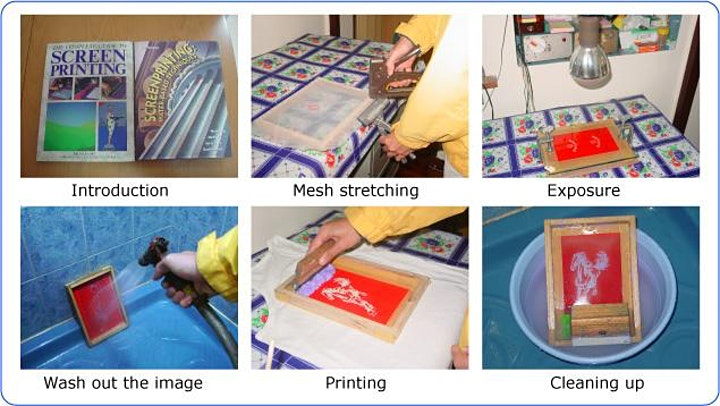 Screen printing workshop (screen stencil making + t-shirts printing) image