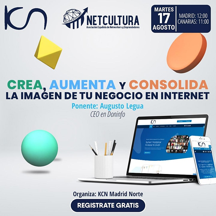 Imagen de Crea, aumenta y consolida la imagen de tu negocio en Internet 17Ago