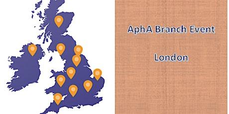 AphA London Branch Meeting biglietti