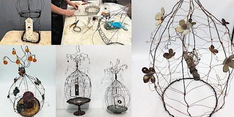 Rustic Wire Bird Cage Sculpture tickets