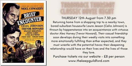 Throwback Thursday Classic Movie Night at The Keep Guildford tickets