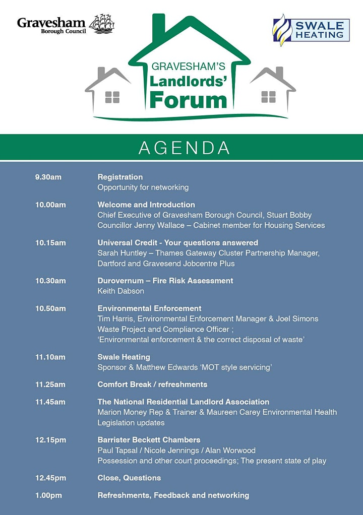 Gravesham's Private Sector Landlords' Forum (sponsored by Swale Heating) image