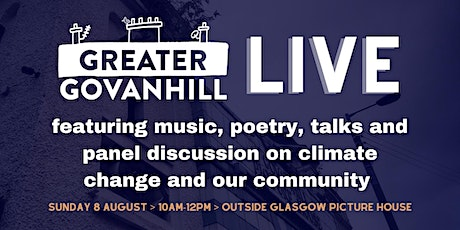 Greater Govanhill magazine LIVE: climate change and our community tickets