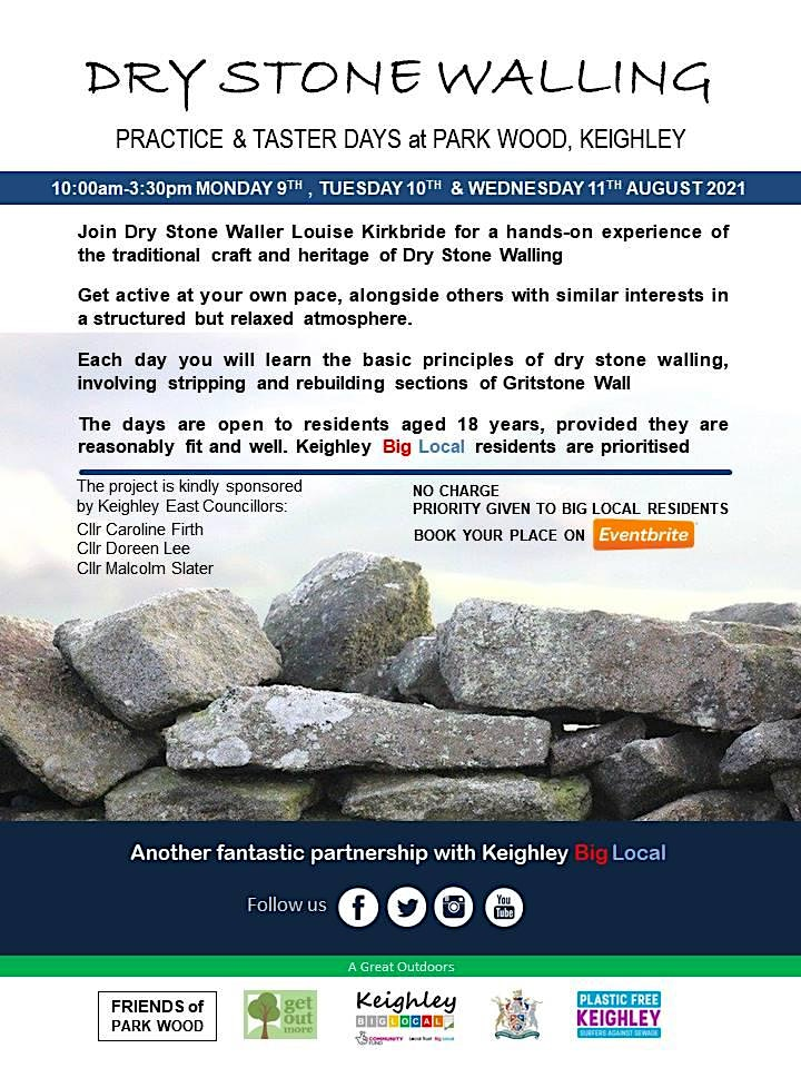 WEDNESDAY: Dry Stone Walling: Practice & Taster Days at Park Wood image