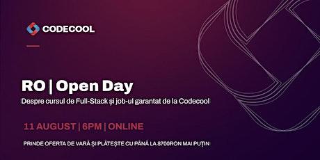 RO   OPEN DAY Despre cursul de  Full-Stack și jobul garantat de la Codecool tickets