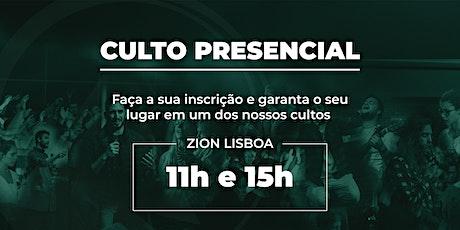 Culto Zion Lisboa - 01/08 bilhetes