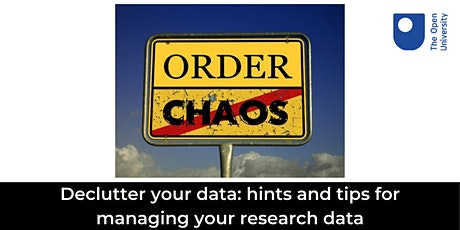 Declutter your Data: hints and tips for managing your research data tickets