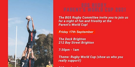 BGS Rugby Parent's World Cup 2021 tickets