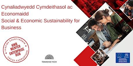 Social and Economic Sustainability | Cynaliadwyedd Cymdeithasol/ Economaidd tickets