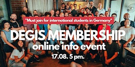 DEGIS Membership Info Event tickets