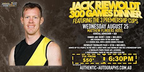 Jack Riewoldt 300th Game Dinner at Matthew Flinders Hotel, Chadstone! tickets
