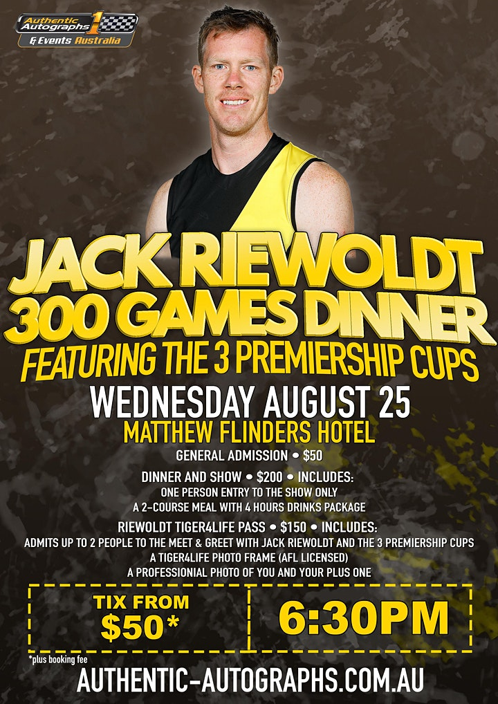 Jack Riewoldt 300th Game Dinner at Matthew Flinders Hotel, Chadstone! image