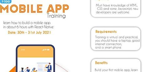Free Mobile App Training biglietti