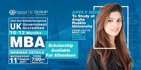 Free Internationally  Recognized  and  CANADA Approved UK  MBA Webinar tickets