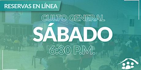 Culto Presencial Sábado/ 07 Agosto / 6:30 pm entradas
