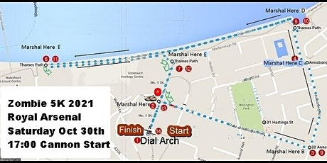 Zombie Fun Run '5K on the RA' (First 25 participants FREE) tickets