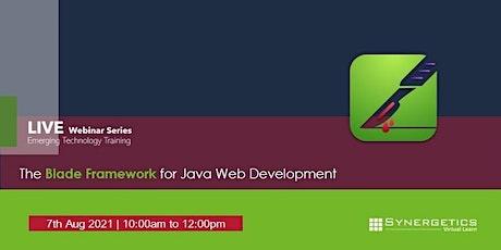 The Blade Framework For Java Web Development Mentors Program biglietti