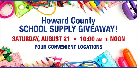 2021 Howard County School Supply Giveaway tickets