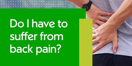 Let's Talk Back Pain tickets