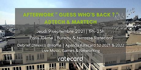 """Afterwork Ratecard  AdTech & MarTech """" Guess Who's Back ? """" billets"""