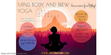 Mind, Body, and Brew Yoga at The Comus Inn tickets