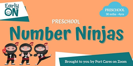 Preschool Number Ninjas -  Dinosaur Counting Puzzle tickets