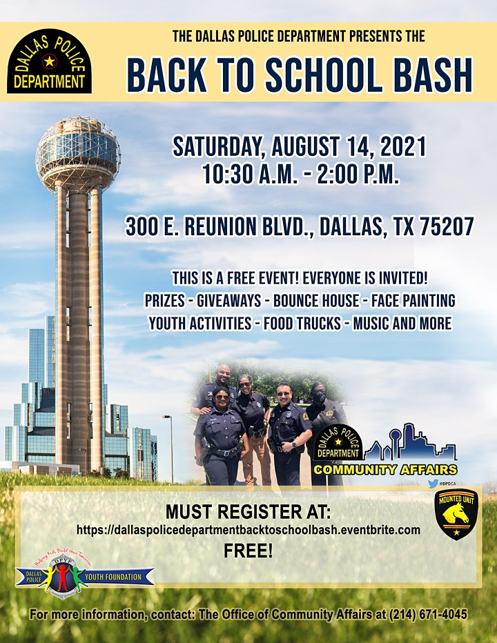 Dallas Police Department Back To School Bash image