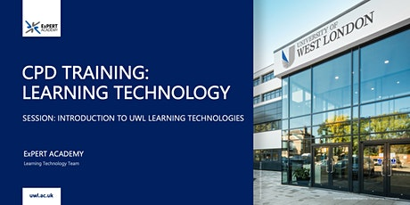 Introduction to UWL Learning Technologies (for new staff) tickets