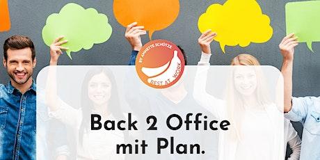 Back 2 Office mit Plan. Diskussionsrunde für Führungskräfte. Tickets